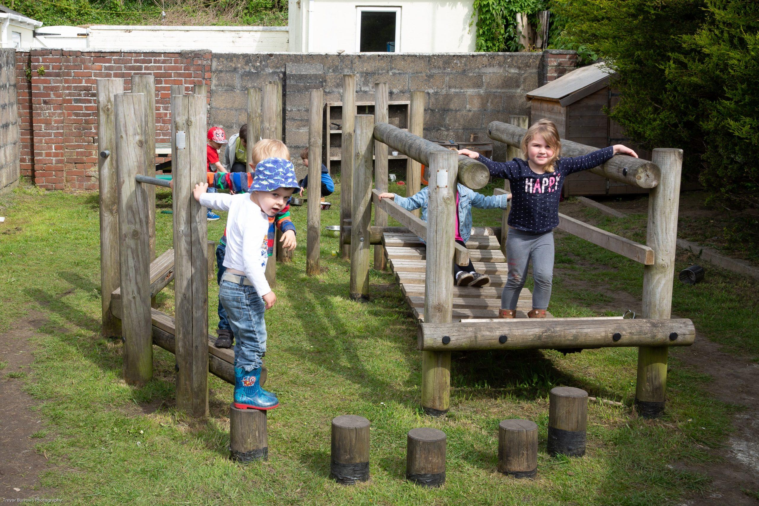 outdoor children exploring